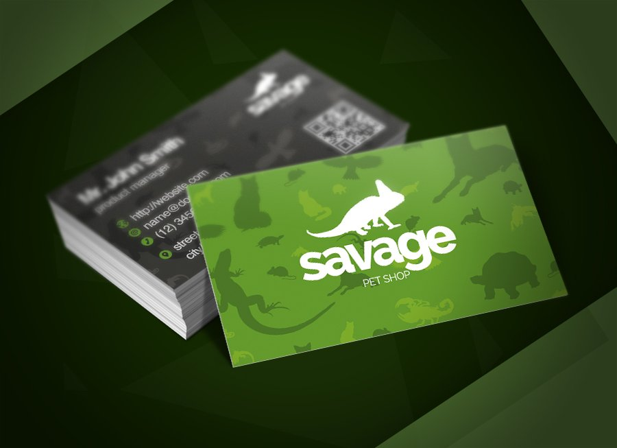Savage pet shop business card business card templates creative savage pet shop business card business card templates creative market colourmoves
