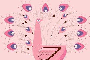 peacock vector/illustration