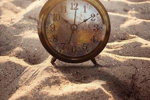 Vintage Alarm Clock in Sand