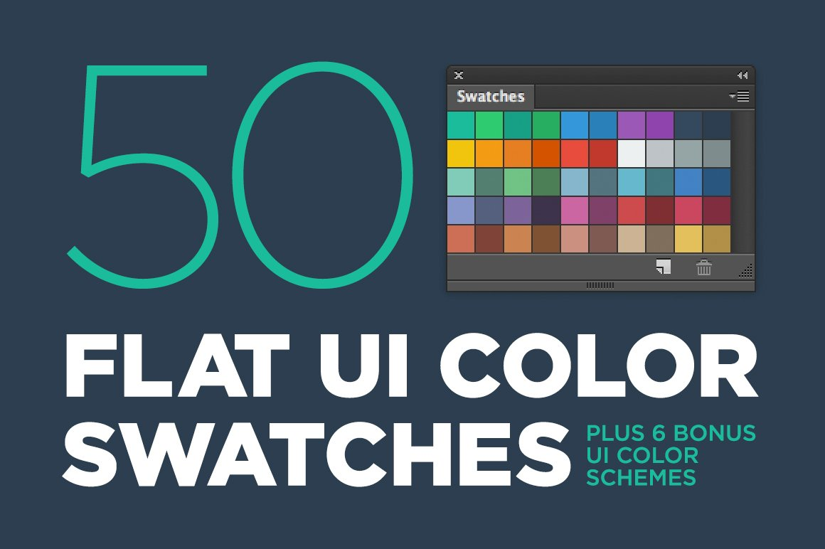 50 Flat Ui Color Swatches Palettes Creative Market