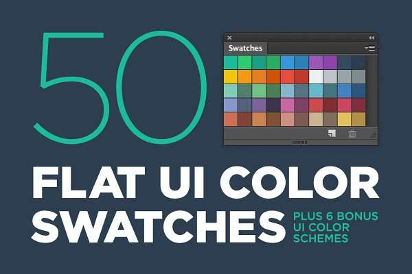 Palettes: Black Label Supply Co. - 50 Flat UI color swatches
