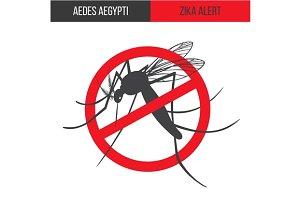 Zika virus alert poster