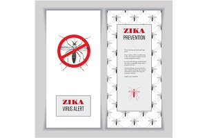 Set of Zika vertical banners