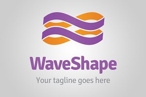 Wave shape logo template