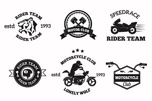 Bikers badges emblems vector