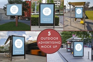 Advertising outdoor mock up