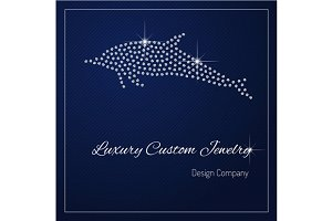 Shimmering diamond luxury dolphin
