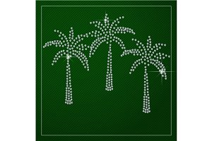 Shimmering diamond palm trees