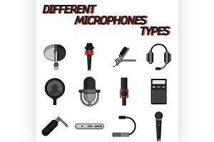 Different microphones types
