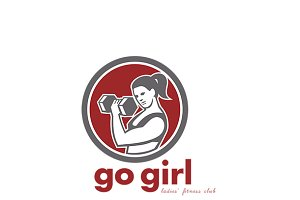 Go Girl Ladies Fitness Club Logo