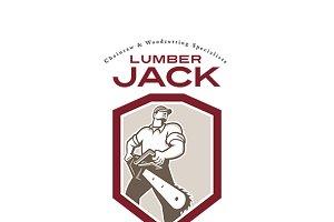 Lumberjack Chainsaw Logo