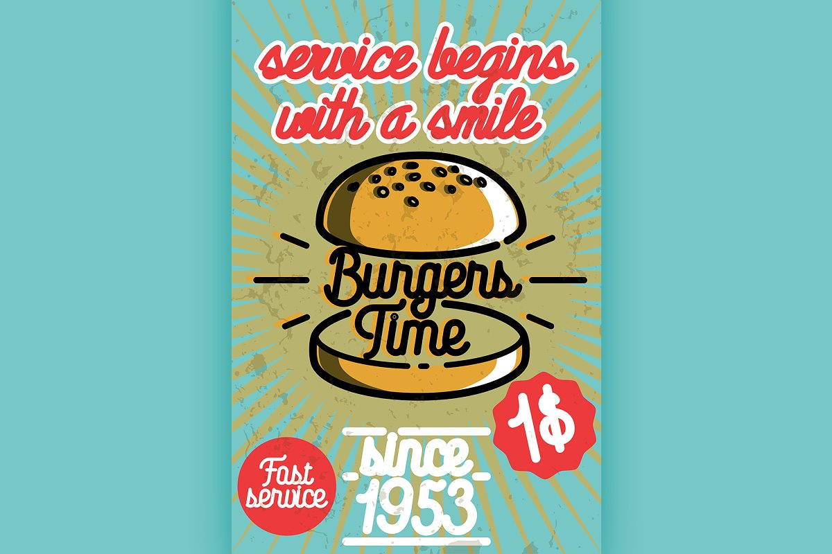 Fast food banner in Illustrations - product preview 8