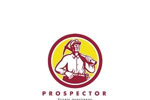 Prospector Private Investigator Logo