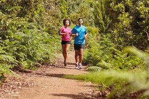 Joggers at Nature