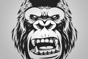 fierce gorilla head