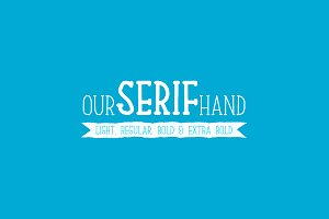Our Serif Hand Family