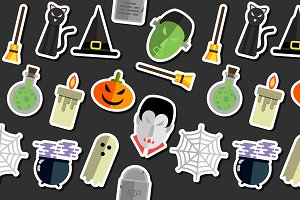 Illustration of Halloween collage