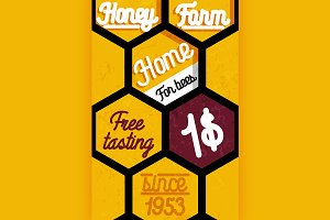 Honey farm banner