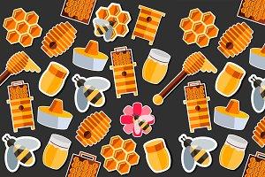 Honey flat collage