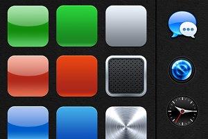 iOS app icon bases + extra's