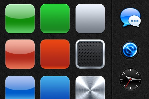 IOS App Icon Bases Extras