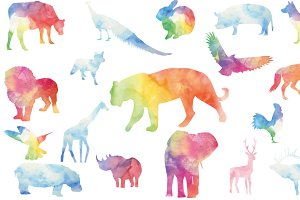 Watercolor Animals Set
