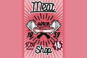 Meat store banner