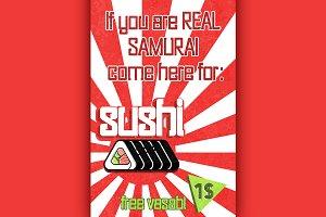 Sushi color banner