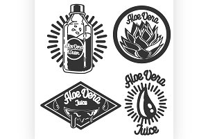 Vintage Aloe vera emblems