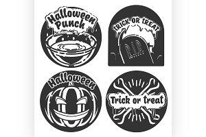 Vintage halloween emblems