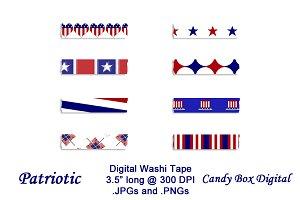 Patriotic Digital Washi Tape