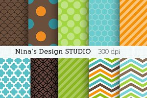 Boy Digital Paper Pattern