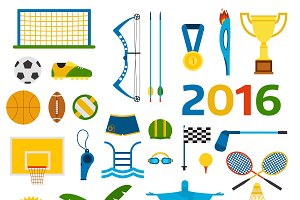 Rio summer olympic vector set