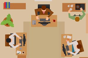 Busy business people vector