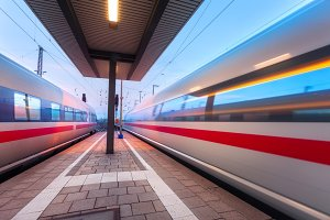 High speed train in Germany
