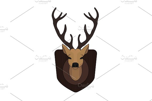 Hunting trophy. Vector - Illustrations