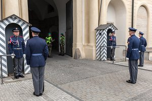 Changing the guards, Prague Castle.