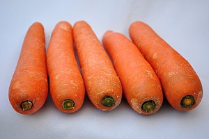 carrots row