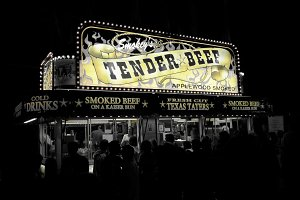 Food stall at fair - Tender Beef