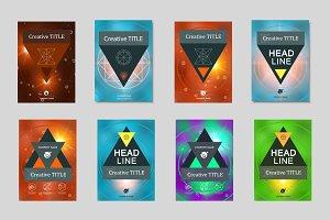 8 Vector brochure template
