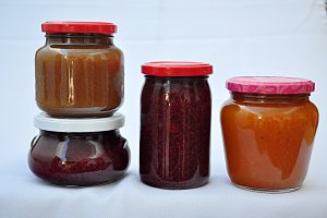homemade jam jars