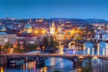 Prague at night. Czech Republic.