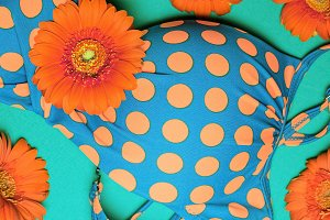 swimsuit polka dots. Summer vintage