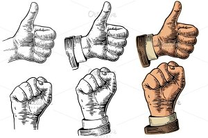 Hand gesture - Like, clenched fist