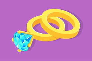 Isometric wedding rings