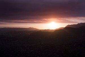 Griffith Park Landscape Sunset