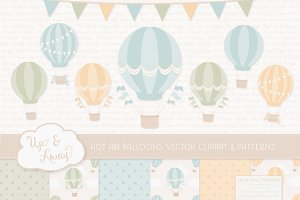 Pastel Hot Air Balloons & Patterns