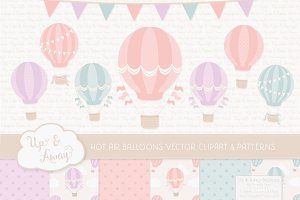 Pastel Balloons and Papers