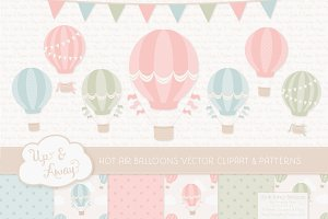 Pastel Hot Air Balloons