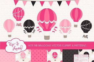 Hot Pink Hot Air Balloons & Patterns
